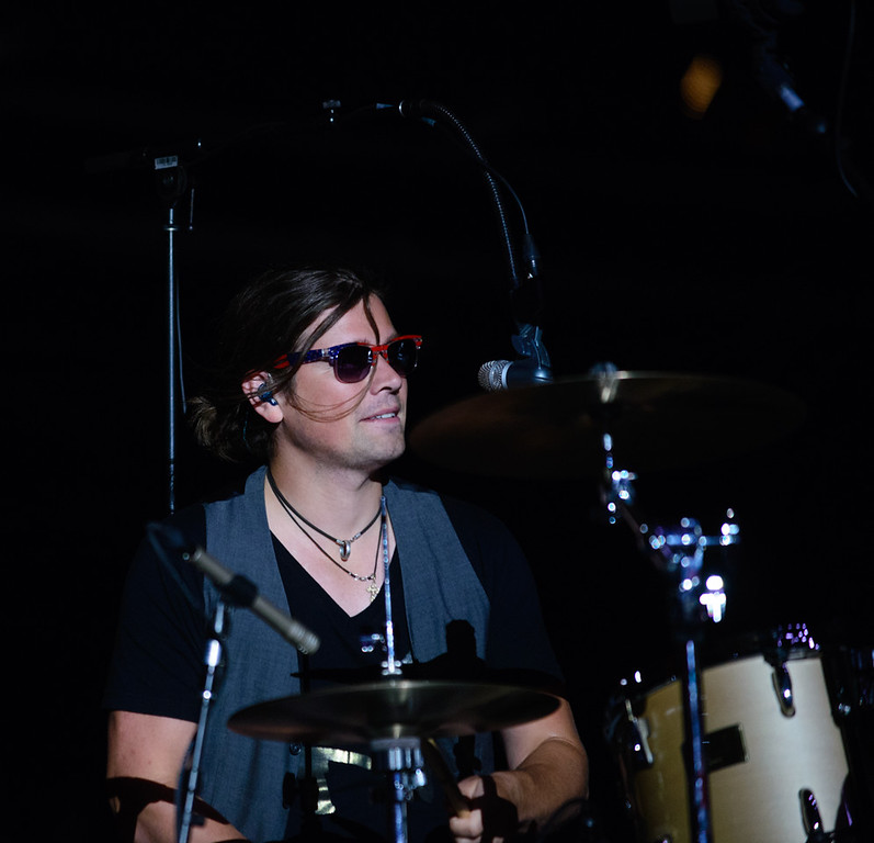 Description of . Zac Hanson guests with Blues Traveler at Red Rocks, July 4, 2015. Photo by Candace Horgan, heyreverb.com.